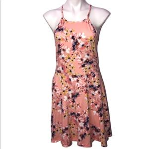 Mossimo Pink Floral Spring Summer Sun Dress